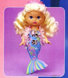 I so loved this little mermaid doll. Apparently she sang, but I don't even remember that part. Just the color changing part. And the being a mermaid part. OMGGGG I GOT ONE OF THESE FOR XMAS!! love