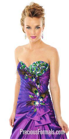 peacock dress -soo pretty!