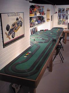 My dad built an awesome slot car track with my uncles back in the 80's.. Good times.  :)