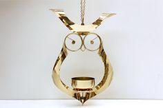 Retro Owl Candle Holder Plant Holder Mid Century by amillionmoths, $42.00