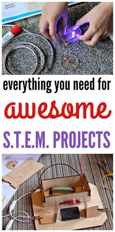 This is so cool: science projects and you don't have to hunt for materials. Love this.
