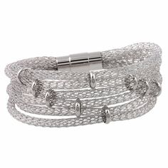 316L surgical stainless steel Mesh Bracelet by UniqueMeDiscovery
