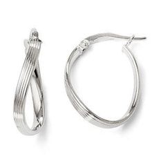 Polished Twisted Textured Hinged Hoop Earrings In 14K White Gold Gemologica.com offers a #unique #simple selection of #gold #earrings for #women. Collection includes #stud #hoop #dangle #drop #styles #Jewelry crafted in 10K 14K 18K #yellow #rose #white #two-tone #tri-tone #metal. Shop #Gemologica #jewellery now for #handmade #fashion #fine #custom #style jewelry