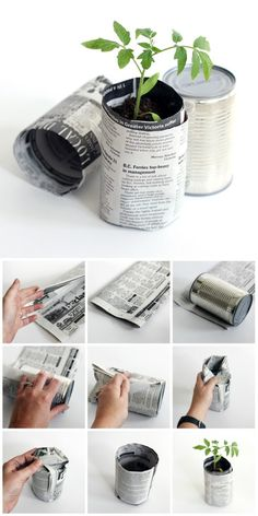 An affordable and environmentally friendly way to make newspaper pots for your seedlings to grow in. Easy to make in a few short steps.