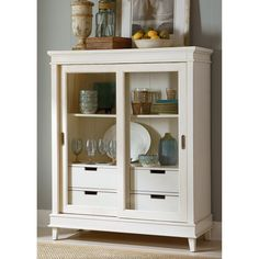 Perfect for your cottage-inspired dining room, the Liberty Furniture Morris Display Cabinet brightens the room and offers display and storage. Cheap Bedroom Furniture, Ikea Furniture, Metal Furniture, Home Office Furniture, Online Furniture, Kitchen Furniture, Contemporary Furniture, Discount Furniture, Cabinet Furniture