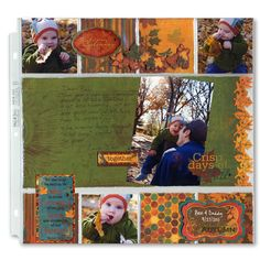 """Fall Father Son Layout  Page two... I can't wait to see what """"daddy"""" will write to our son."""