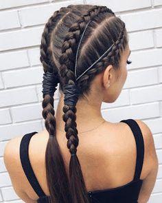 Stunning Braided Ponytail Hairstyles Trends & Styles for Frisuren, Stunning Braided Ponytail Hairstyles Trends & Styles for 2019 Braided Ponytail Hairstyles, Braided Hairstyles Tutorials, Box Braids Hairstyles, Hairstyle Ideas, Braid Tutorials, Braids Into Ponytail, Hairstyle For Women, Pretty Hairstyles, Wedding Hairstyles