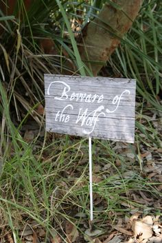 Post these around the park to set boundaries for little ones... needs wolf sketch for little eyes to see;)