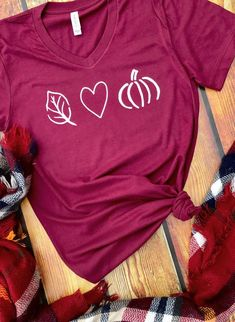 Fall Tshirt / Love Fall Tee / Fall Shirt / Pumpkin Shirt / Pumpkin Spice / Fall Fashion / Bella Canvas V Neck / Jersey / Autumn Tshirt - Holiday Shirts - Ideas of Holiday Shirts - Fall Tshirt / Love Fall Tee / Fall Shirt / Pumpkin Shirt / Fashion Bella, Autumn T Shirts, Vinyl Shirts, Love Shirt, Personalized T Shirts, Cute Shirts, Funny Shirts, Mom Shirts, Fall Outfits
