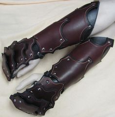 Gothic Leather Armor Gauntlets No finger by SharpMountainLeather, $99.99