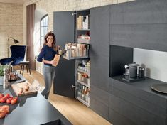 Investing in a new kitchen can be as exciting as it can be overwhelming. Here are some clever tips for designing your dream kitchen. Narrow Cabinet, Cabinet Space, Small Space Storage, Storage Spaces, Kitchen And Bath, New Kitchen, No Pantry Solutions, Storage Solutions, Kitchen Pantry Storage
