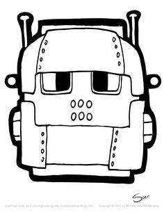 free printable robot masks printables kids pinterest free