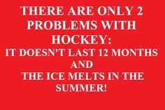 2 problems with hockey!