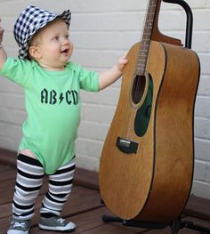 Any Size Baby Boy or Girl ABCD Rock Star Inspired by WeChooseJoy, $16.50