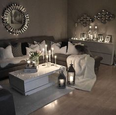 49 Small Cozy Living Room Decor Ideas For Your Apartment Living Room Decor Cozy, Living Room Grey, Home Living Room, Apartment Living, Living Room Designs, Apartment Furniture, Living Room Ideas Modern Grey, Living Room Decor Themes, Mirror Decor Living Room