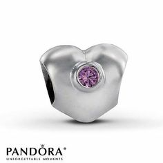 1 Authentic Pandora Heart Charm Bead with Pink CZ have it;  love it!