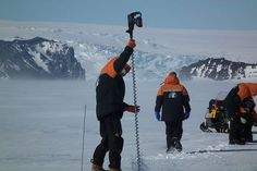 Satellites help scientists measure the thickness of land and sea ice in Antarctica. To validate these measurements, Dr Wolfgang Rack from Canterbury University travels to Antarctica each year to physically measure the thickness of land and sea ice. Sea Ice, Remote Sensing, Associate Professor, Antarctica, Mount Everest, Science, Travel, Learning, Viajes