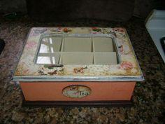 Tea Box, Crafts To Do, Retro, Ideas Para, Decorative Boxes, Crafty, Handmade, Home Decor, Country