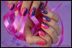 Missadelinne: Pink Striped Nails