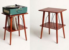 record player stand. I could make something similar.