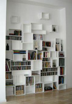 Boekenkast cubes speels