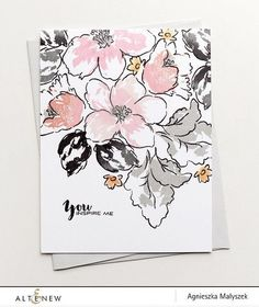 Altenew - HIBISCUS BOUQUET - Clear Stamps Combining classical elegance with modern bold statement, this set will give you a beautiful assortment of hibiscus flo