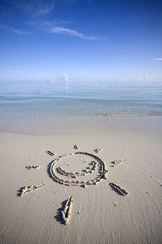 sun on the sand of exotic beach