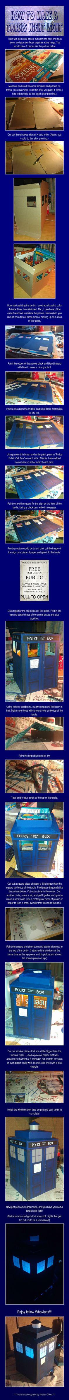 How to make a Tardis Night Light! #doctorwho #tardis #geek #crafts