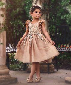 Beautiful Gold Laced dress Zulily, #afflink