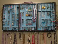 Jewelry Organizer with glass doors and two by BlackForestCottage