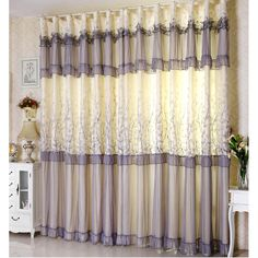 Beautiful Customisize Purplish Gray Curtain Sheer Purplish grey sheer curtain has beautiful florl patterns. It can match solid curtain perfectly. Gray Sheer Curtains, Windows, Pattern, Beautiful, Home Decor, Blinds, Decoration Home, Room Decor, Patterns