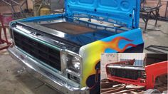 The front end of a 1978 GMC truck looks like a great basis for a barbeque grill