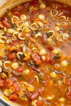 Are you looking for fall recipes or fall food ideas? To continue with celebrating all things fall, I've gathered together a collection of fall soup recipes for your culinary delight. #soup #recipe #minestrone #fallrecipes Minnestrone Soup Recipe, Best Minestrone Soup Recipe, Healthy Soup Recipes, Vegetarian Recipes, Cooking Recipes, Vegetarian Soup, Easy Recipes, Recipes Dinner, Healthy Cooking