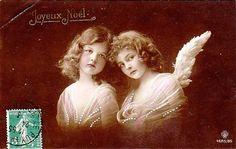 free angel postcard image | Vintage Postcard ~ Angel Girls