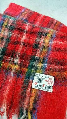 Check out this item in my Etsy shop https://www.etsy.com/ca/listing/543591114/vintage-scottish-mohair-wool-red-tartan