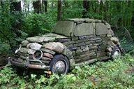 stone art  car