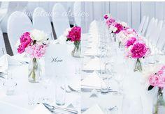 Peoniowa dekoracja wesela