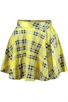 Plaid and Stripes Print High Waist Pleated Mini Skirt