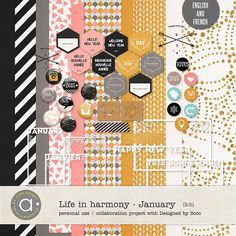 Life In Harmony - January {Kit}   by Ange Designs