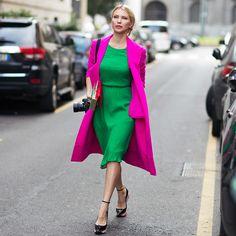 Combinação de cores da semana: rosa e verde - Moda it