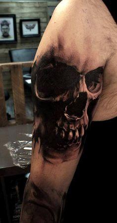 19 New Ideas Tattoo For Guys Skull Design Skull Hand Tattoo, Skull Sleeve Tattoos, Tattoo Henna, Skull Tattoo Design, Skull Design, Tattoo Designs, Evil Skull Tattoo, Tattoo Ideas, Evil Tattoos