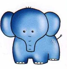 Imprimir imagenes animales infantiles-Imagenes y dibujos para imprimir Embroidery Transfers, Embroidery Thread, Embroidery Patterns, Elephant Pictures, Birthday Brunch, Book Journal, Sell On Etsy, Smurfs, Clip Art