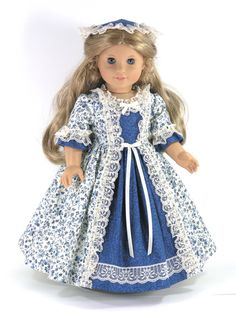 American Girl 18 inch Doll Clothes Elizabeth by LidiDesigns