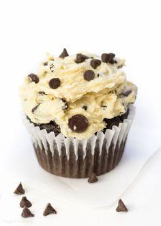 Chocolate Chip Cookie Dough Cupcakes are exactly what Id like  Mein Blog: Alles rund um Genuss & Geschmack  Kochen Backen Braten Vorspeisen Mains & Desserts!