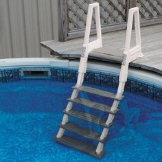 Heavy Duty Inpool Ladder for Decks - Above Ground Pool Steps from Doheny's Pool Supplies Fast Above Ground Pool Steps, Above Ground Pool Ladders, Above Ground Pool Landscaping, Backyard Pool Landscaping, Above Ground Swimming Pools, In Ground Pools, Round Above Ground Pool, Pool Backyard, Landscaping Ideas