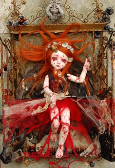 """""""Charlotte's Nightmare"""" by Sally's Song Dolls."""