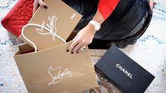 Chanel vs Christian Louboutin Shoe Closet, Christian Louboutin Shoes, Pumps, Heels, Paper Shopping Bag, Fashion Shoes, Chanel, Tote Bag, Bags