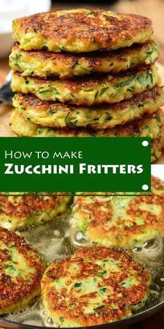 How To Make Zucchini Fritters    #Zucchini-Fritters #Zucchini-recipes #Zucchini Keto Recipes, Dinner Recipes, Healthy Recipes, Zucchini Fritters, Zucchini Cake, Dessert Drinks, Salmon Burgers, Allrecipes, Kids Meals