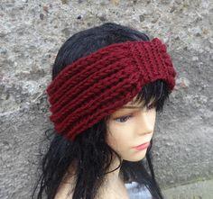 Handmade Knitted Headband ANY color Knit Headband Hand by Ifonka