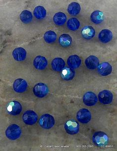REDUCED    Royal Blue Faceted Round 6mm by CedarCreekCanada